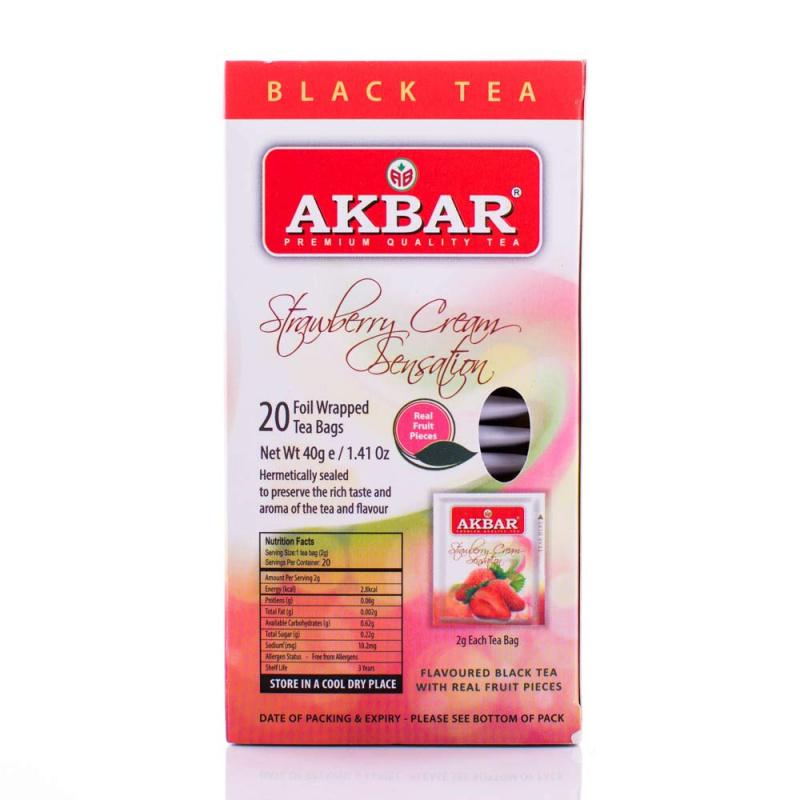 AKBAR 草莓紅茶20小包(鋁箔袋) X 2g