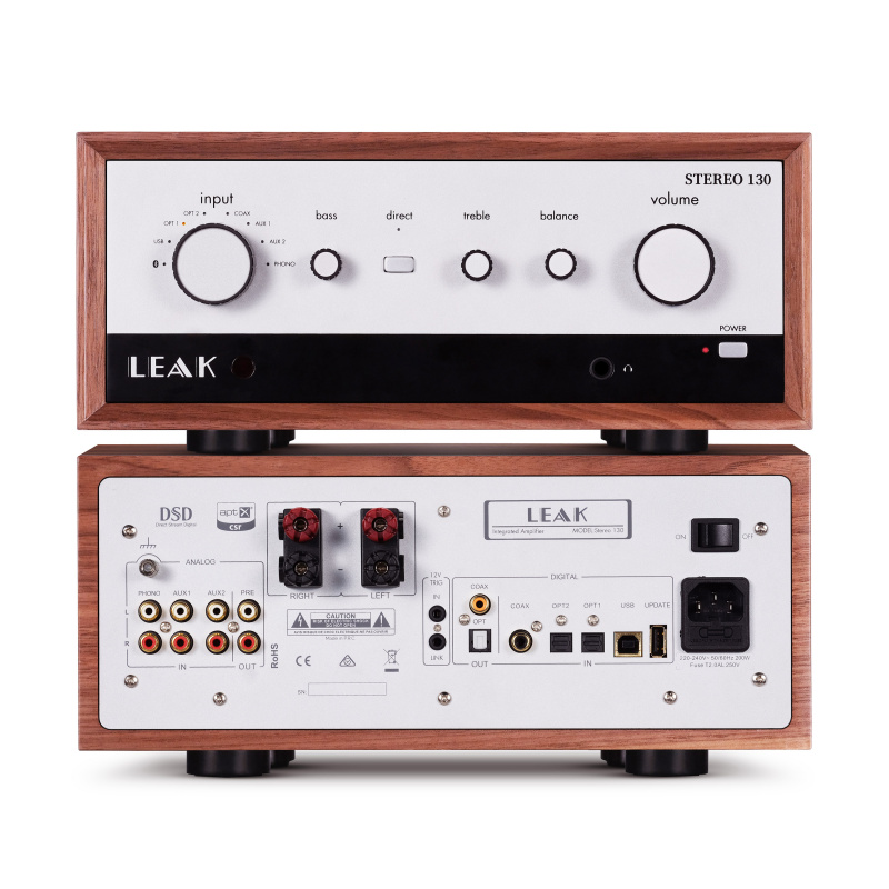 LEAK STEREO 130 + CDT 音響系統 (胡桃木色)