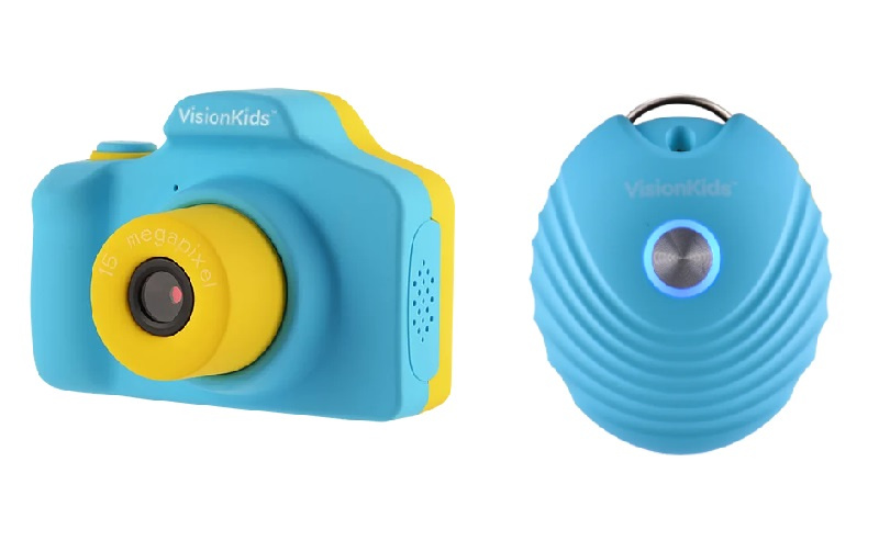 Visionkids HappiCAMU+ 雙鏡兒童相機 + BaikinBye 穿戴式負離子空氣淨化機