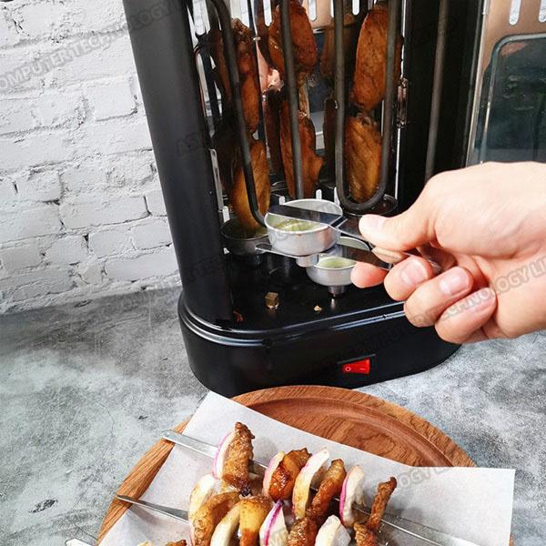 B&C 家用無菸自動旋轉電烤盤電熱速烤串機