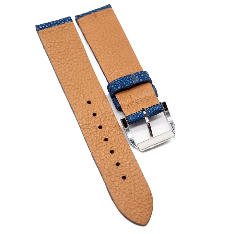 20mm 藍色珍珠魚 / 魔鬼魚皮錶帶