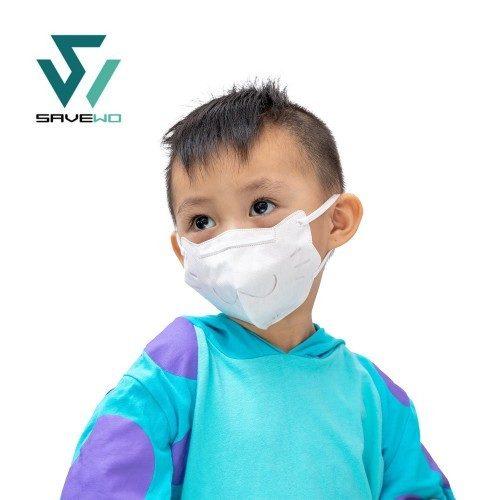 Savewo 救世 3DMEOW for Kids 立體喵 兒童防護口罩 S Size (2-6歲適用) - (30片獨立包裝/盒)