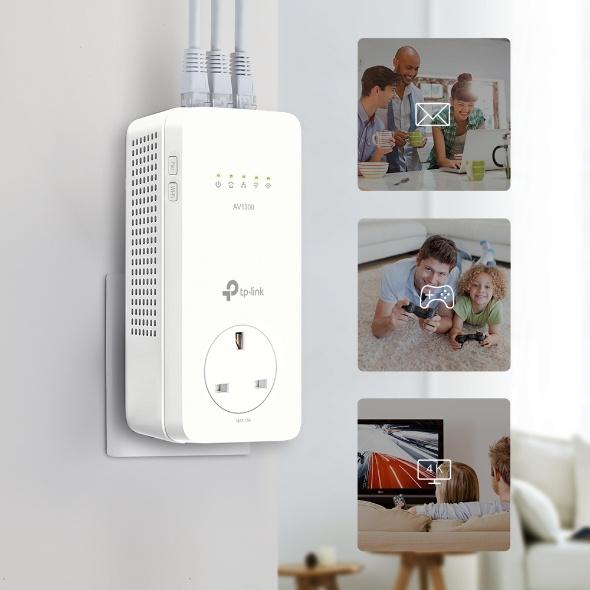 TP-Link AV1300 Gigabit Passthrough Powerline ac Wi-Fi Kit WPA8631P KIT