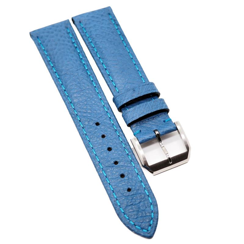 20mm 優質天藍色鴕鳥皮錶帶