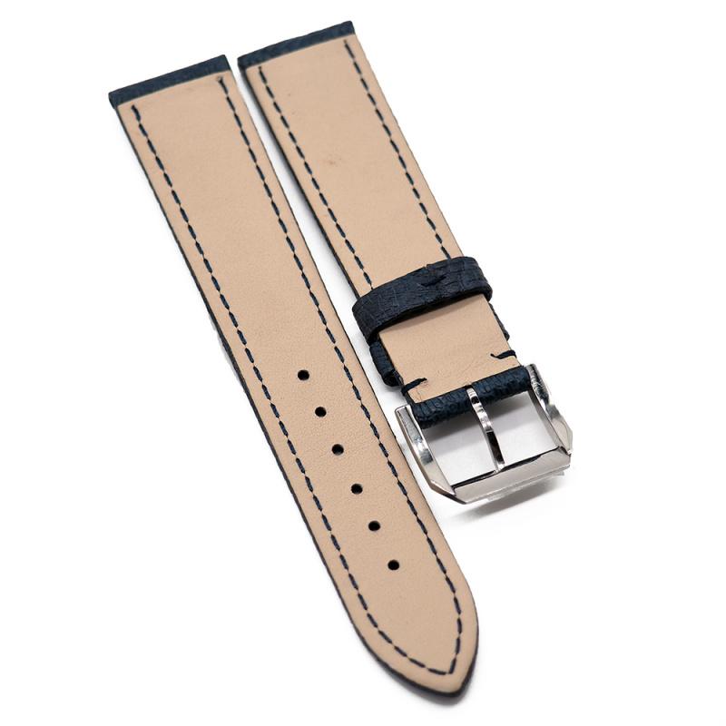 20mm 優質深藍色鴕鳥皮錶帶