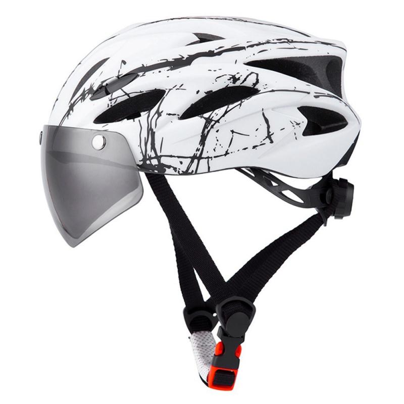 TOMSHOO MTB騎行頭盔單車頭盔(連護目鏡)