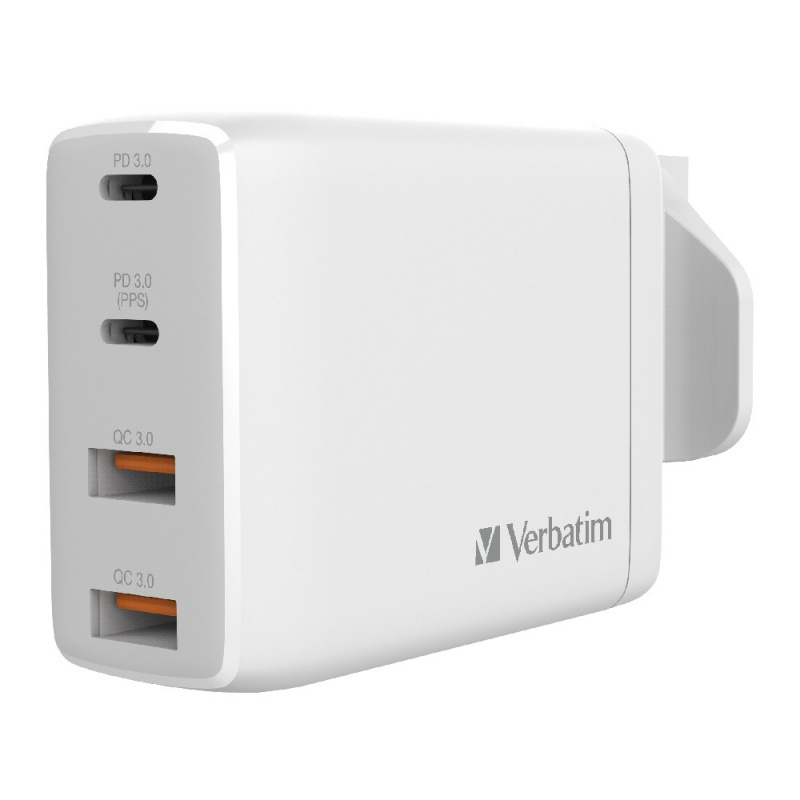 Verbatim 4 Port 100W PD 3.0 & QC 3.0 GaN USB充電器[66545/66546]