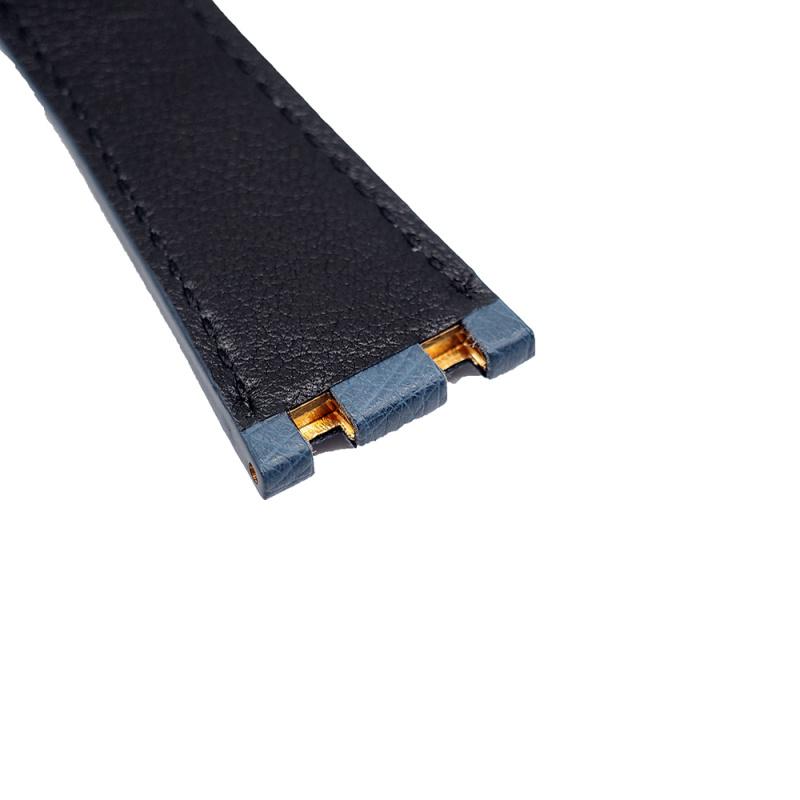 28mm Audemars Piguet 鐵藍色鴕鳥皮錶帶 合適 Royal Oak Offshore 42mm