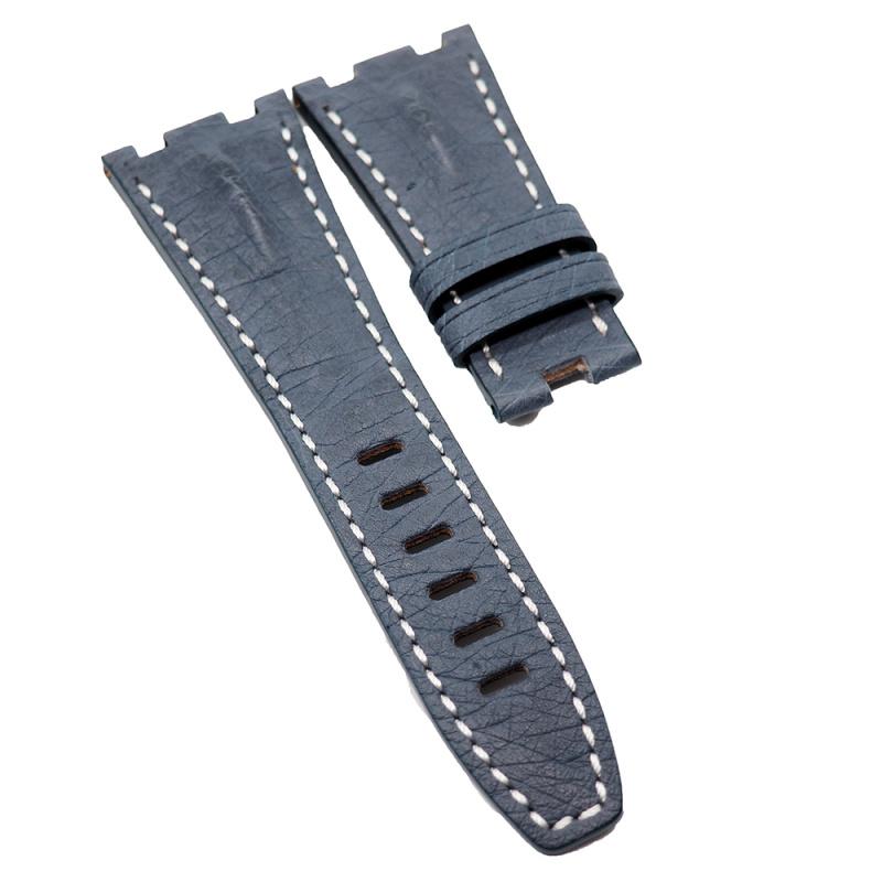 28mm Audemars Piguet 灰藍色鴕鳥皮錶帶 合適 Royal Oak Offshore 42mm