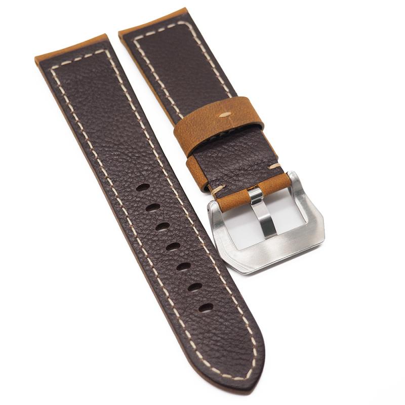 24mm Panerai 銅橙色牛皮代用錶帶