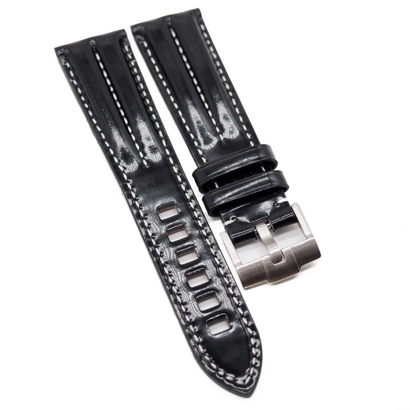 21mm 黑色漆皮錶帶, 中間車線
