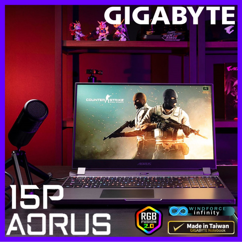 "GIGABYTE AORUS 15P KB 15.6""電競筆電( i7-10875H / RTX2060 / 144Hz )"