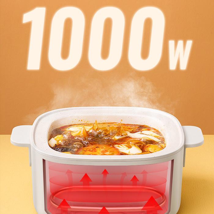生活元素 多功能電煮鍋 2L J16-H01 - 電煮食鍋 煮麵機 個人火鍋/宿舍神器