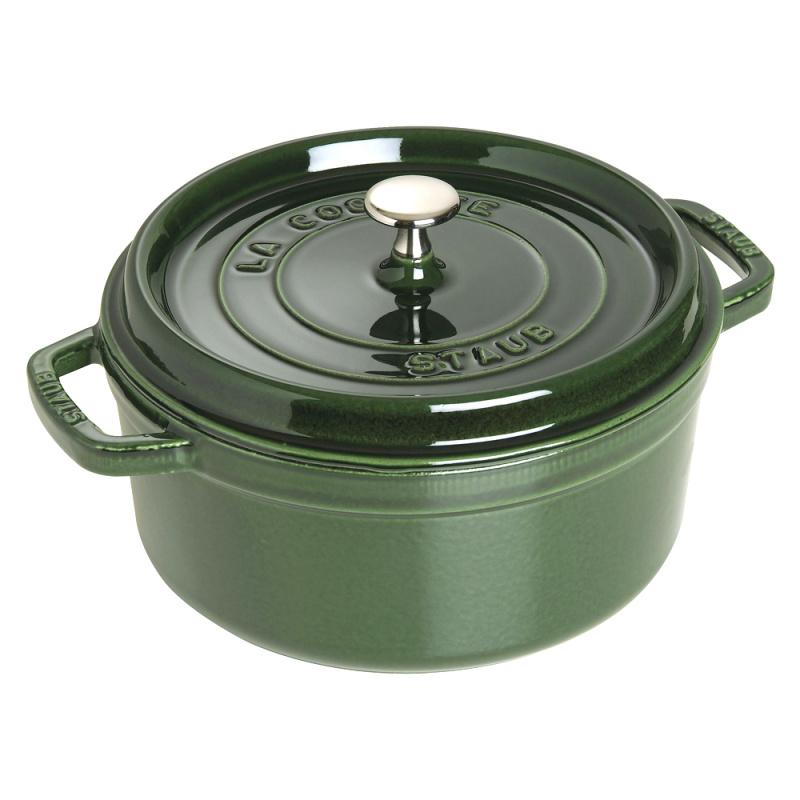 Staub - 圓形鑄鐵鍋 綠色 - 26cm /5.2L (1102685) Round Cocotte