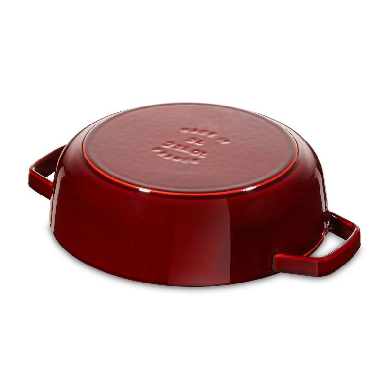 Staub Chistera Braiser 多用途雙耳鍋 24cm (2.4L) 紅色 12612406 滴落結構- 平行進口