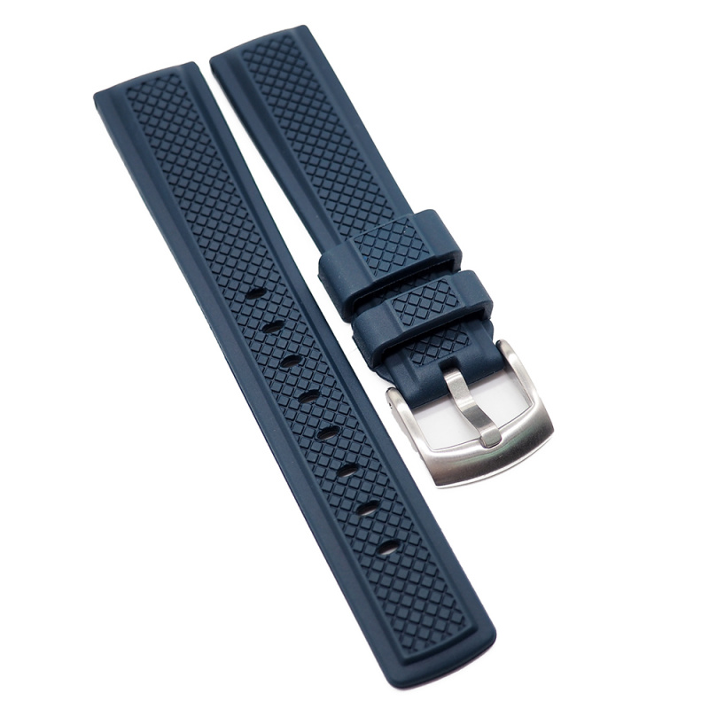 20mm 海軍藍氟橡膠錶帶
