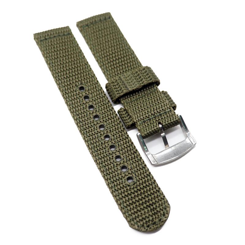20mm Seiko 軍綠色尼龍代用錶帶