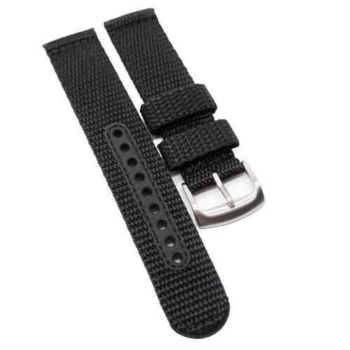 20mm Seiko 黑色尼龍代用錶帶