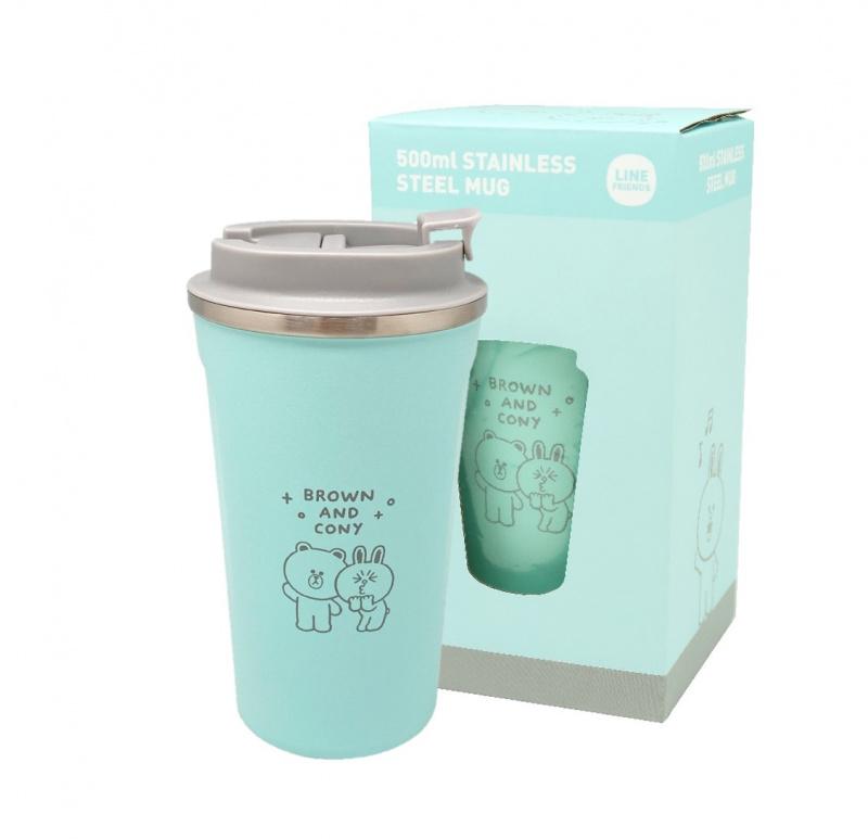 LINE FRIENDS - 真空冷熱咖啡保溫杯