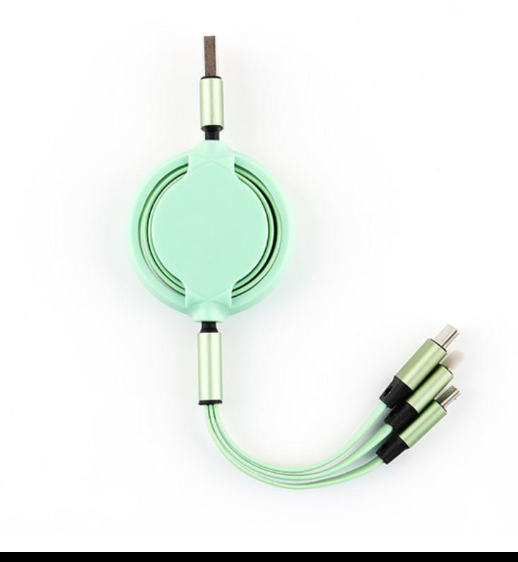 一拖三伸縮電線 非常通用 充電速度快速 材質環保