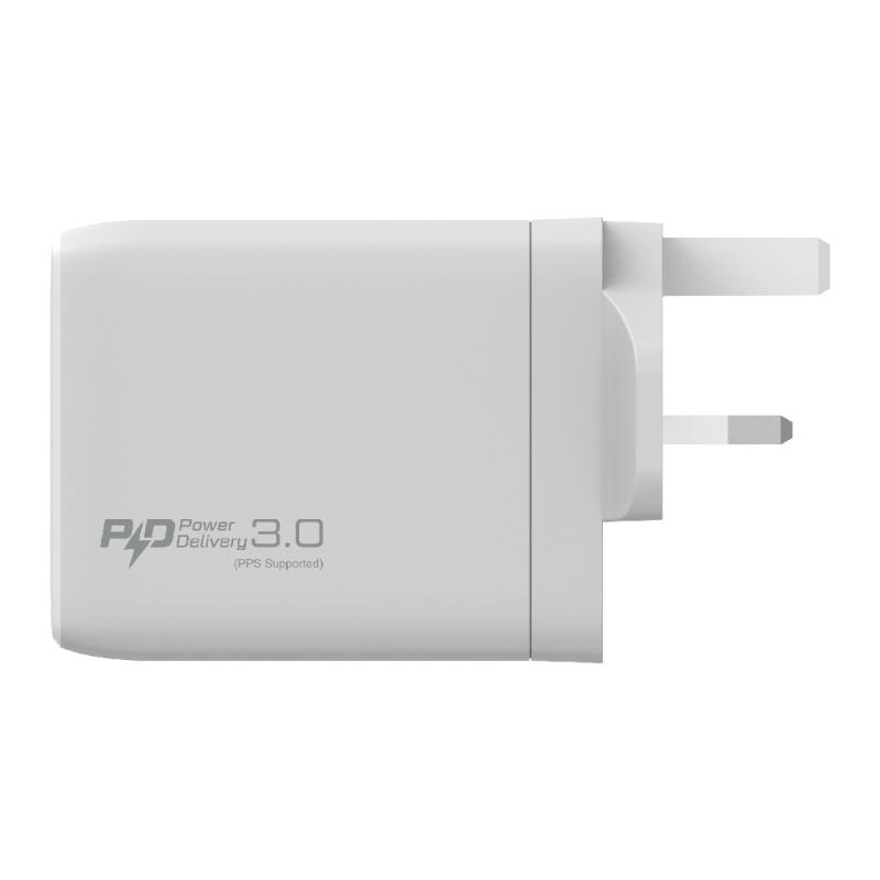 Verbatim 100W 4 Ports 雙PD3.0 & 雙QC 3.0 GaN 牆充電器