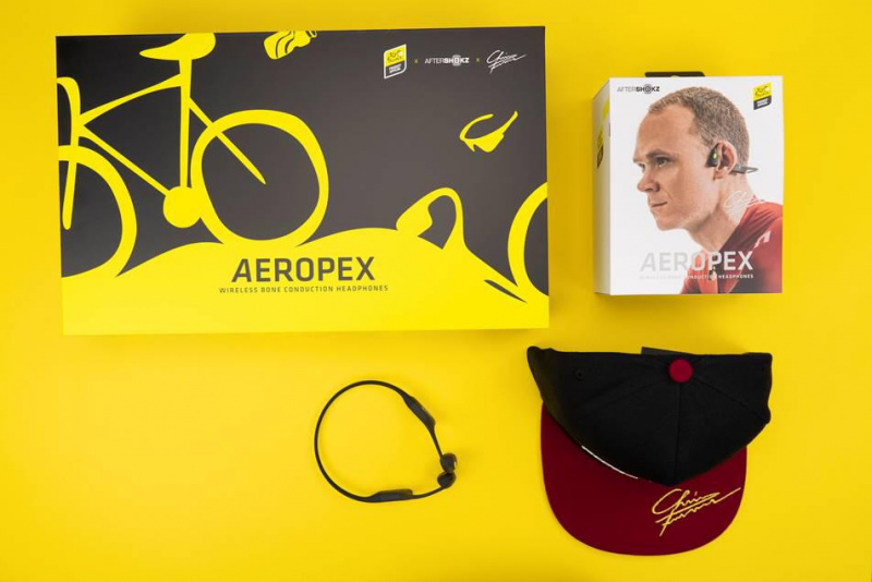AfterShokz × Tour de France 環法限量版Aeropex聯乘套裝 4屆環法單車冠軍Chris Froome加持Aeropex AS800