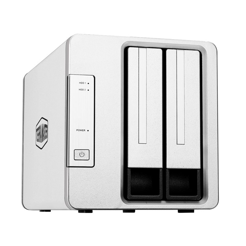 TerraMaster D2-310 USB Type C 外置硬盤 RAID 外殼 USB3.1 (Gen1) 2 槽 RAID 存儲支持 RAID 0/1/單(不含硬盤)