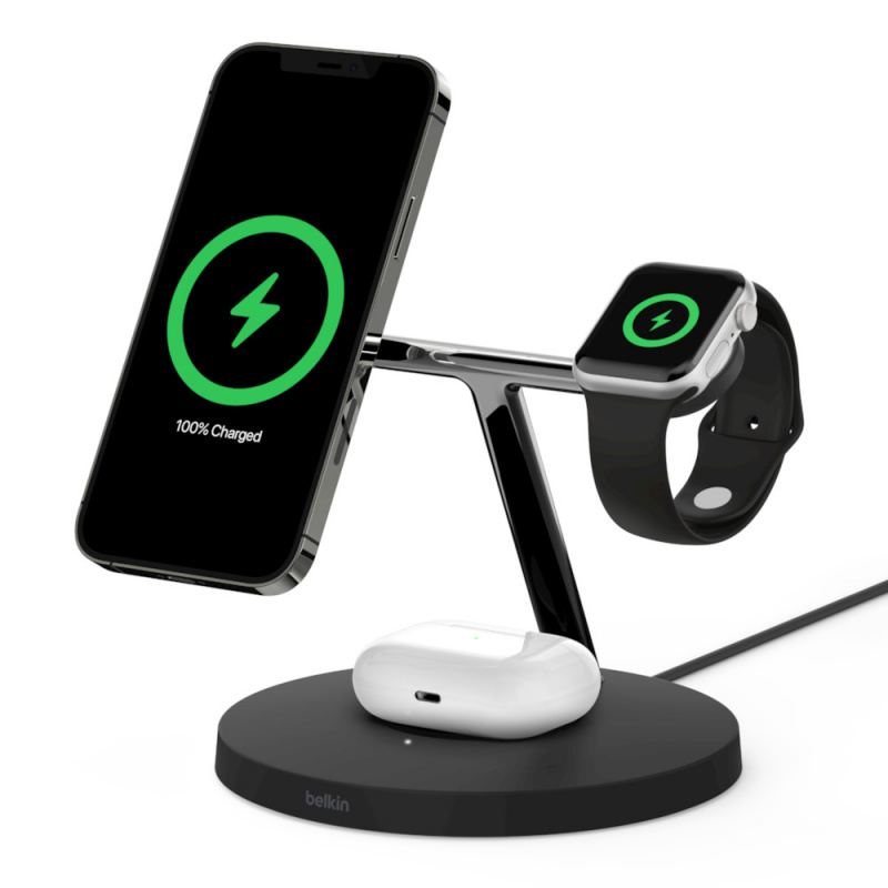 Belkin BOOSTCHARGE PRO MagSafe 3-in-1 Wireless Charger