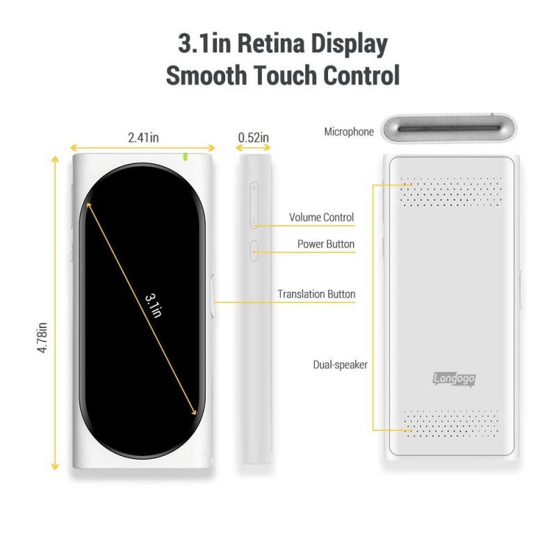LANGOGO Pocket Sized Translator 手掌形翻譯機 - White