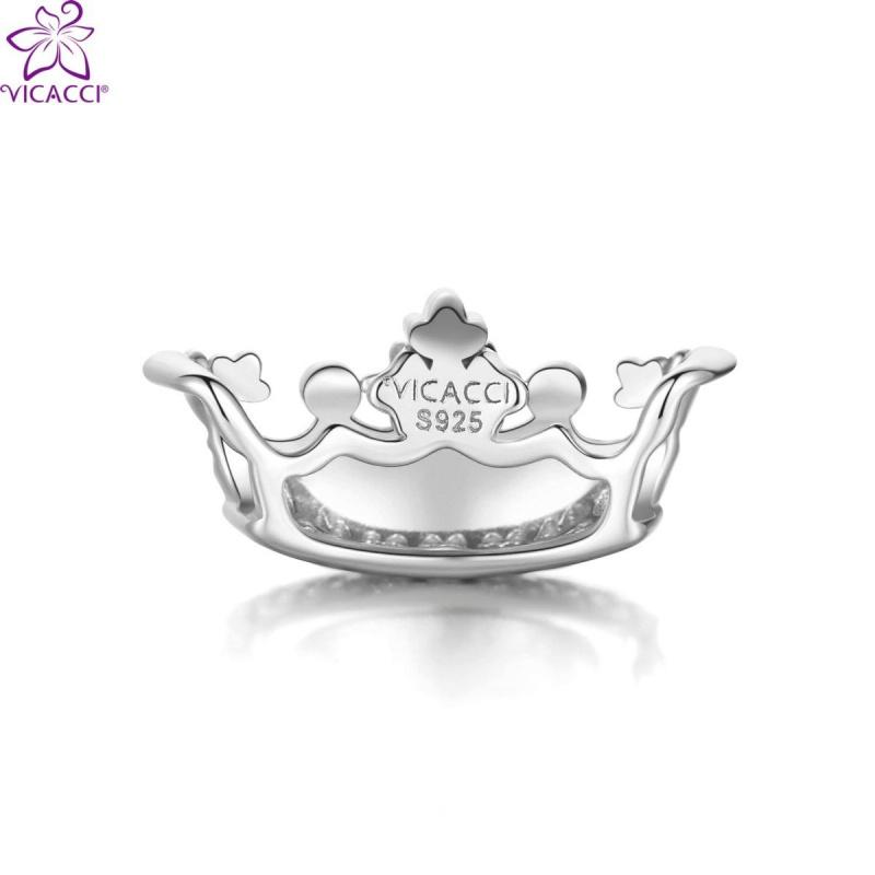 維卡琦皇冠925純銀鍍白金施華洛世奇水晶串飾