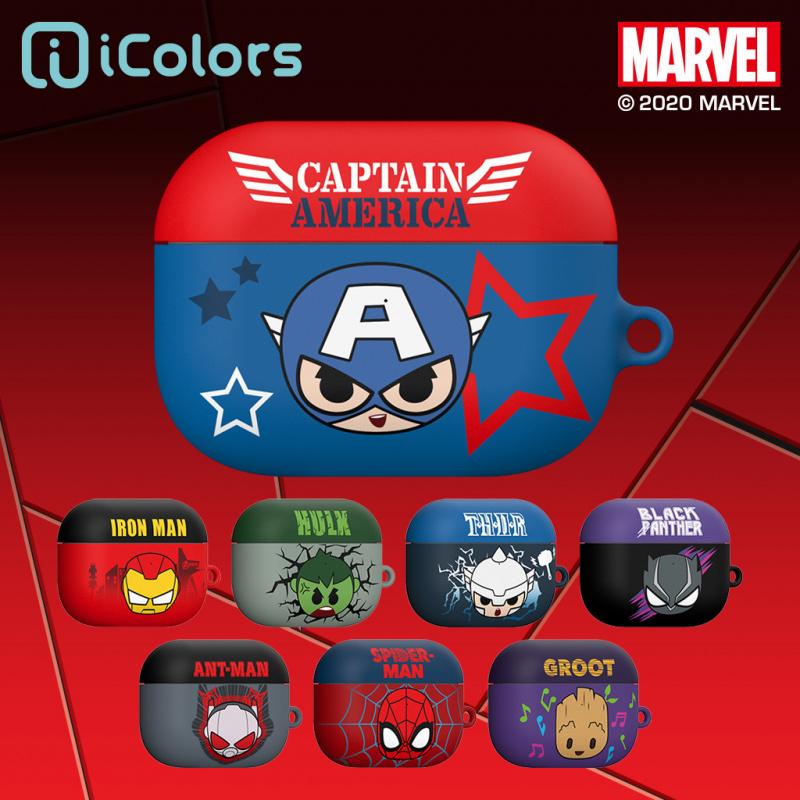 韓國 iColors x Marvel - AirPods Pro 藍牙耳機矽膠保護套