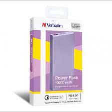 Verbatim 10000mAh PD & QC 3.0 流動充電池 - Purple