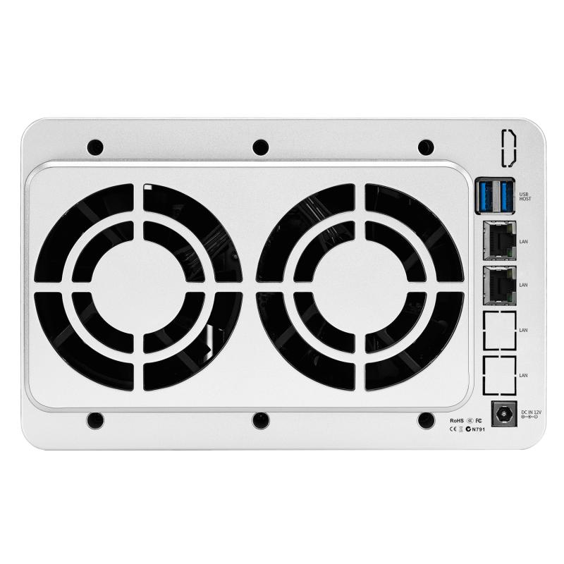 TerraMaster F5-221 NAS 5-Bay 雲存儲 Intel 雙核 2.0GHz Plex 多媒體服務器網絡存儲(不含硬盤)