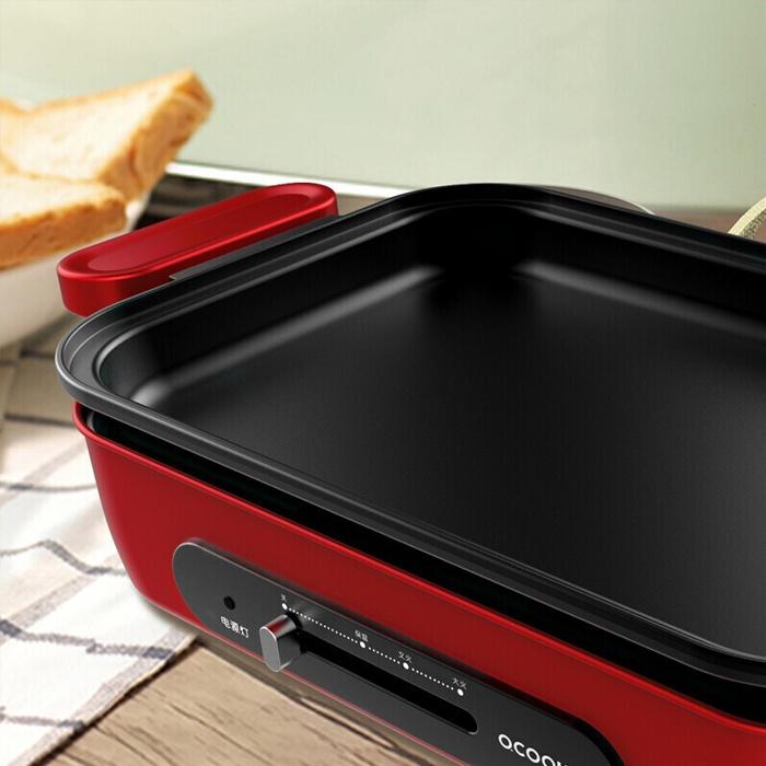 Ocooker 圈廚多功能煎烤盤 LL01T - 電烤盤 火鍋 燒烤 燒肉 鐵板燒
