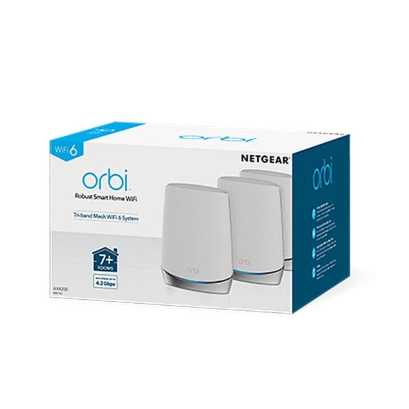 Netgear Orbi RBK753 Mesh WiFi 6 專業級三頻路由器 3 件套裝