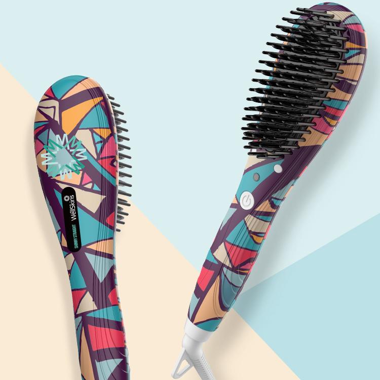 WellSkins 薇新萬象琉璃直髮梳 WX-ZF105 - 負離子造型 梳捲髮器 直髮梳 造型梳 直髮夾