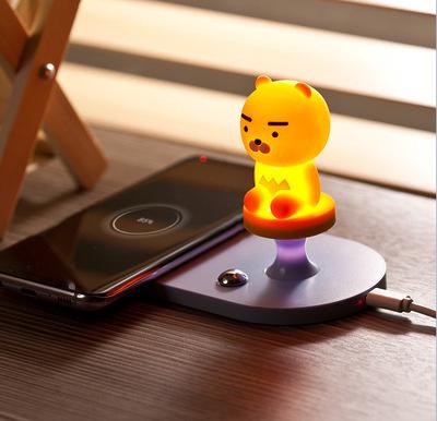 韓國Kakao Friends - 2 in 1 手機通用無線充電底座連RYAN小夜燈