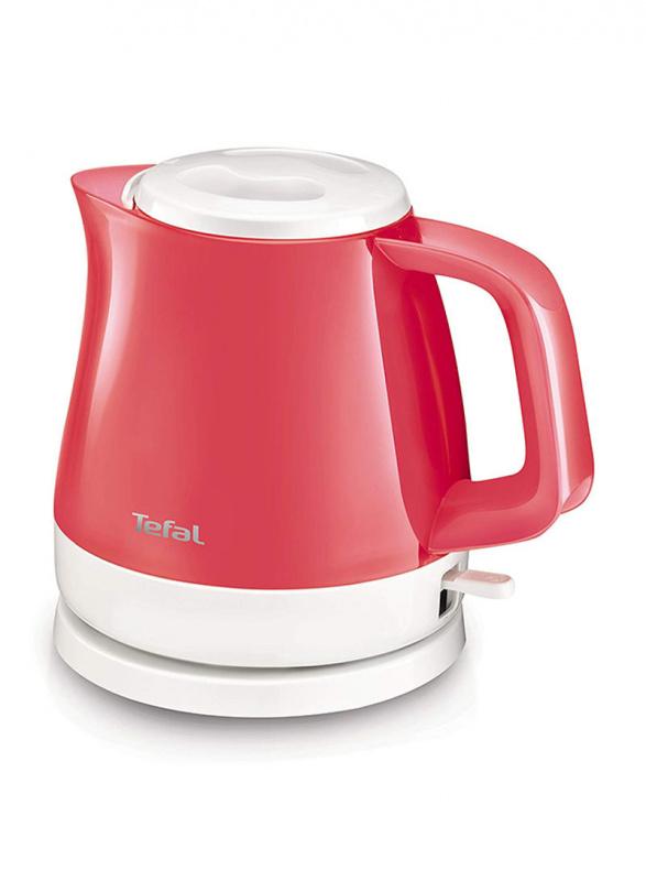 法國特福 Tefal - 電熱水壼 0.8L KO152510 DELFINI VISION 紅白色