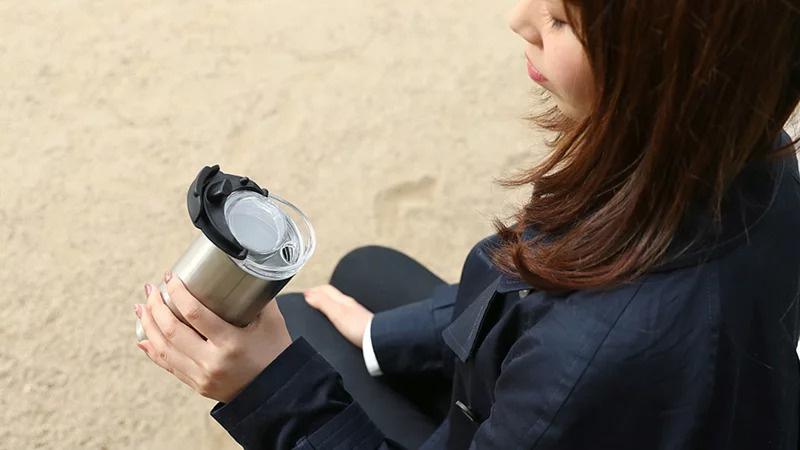 日本PRISMATE 2WAY不銹鋼瓶 帶不倒翁蓋