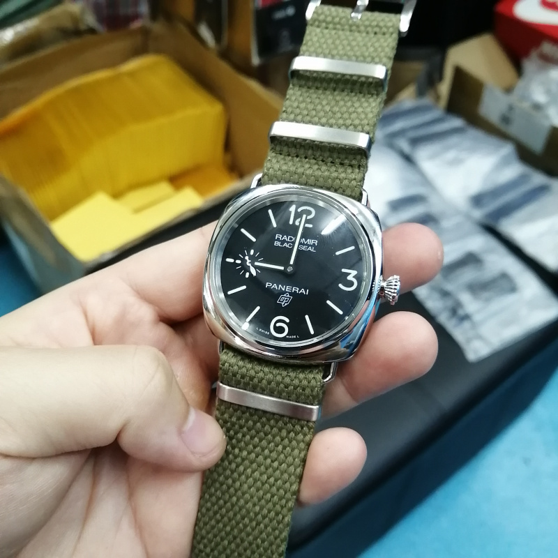 20mm, 24mm 軍綠色編織帆布 Nato 錶帶