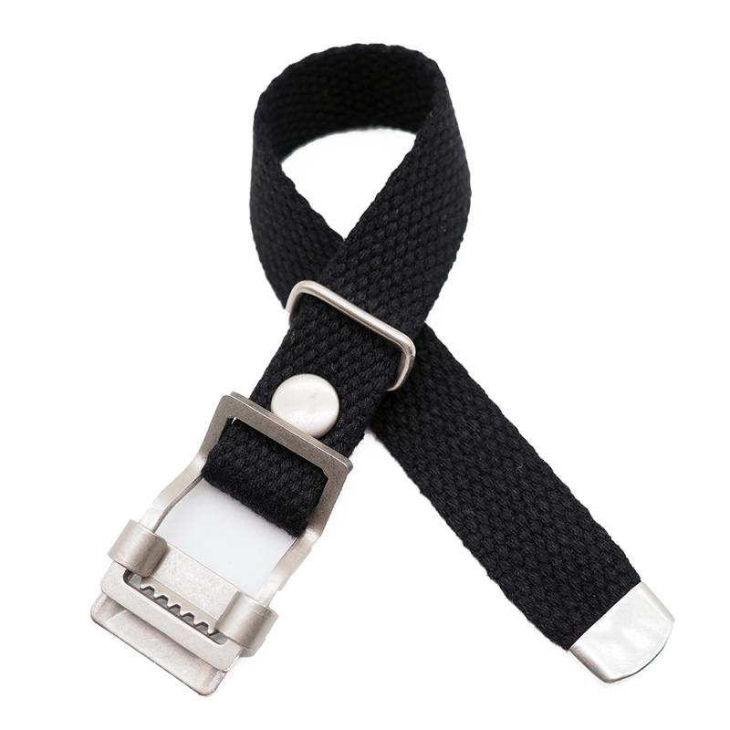 20mm, 22mm 黑色編織帆布 Nato 錶帶, 活動牙扣