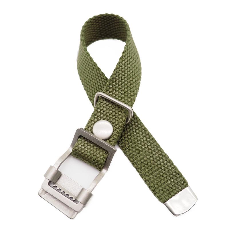 20mm, 22mm 軍綠色編織帆布 Nato 錶帶, 活動牙扣