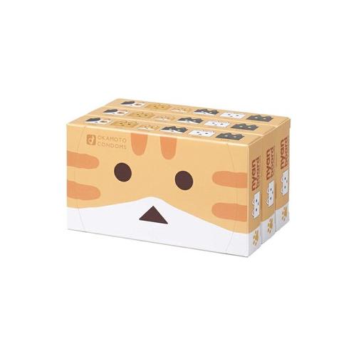 OKAMOTO 岡本 X Nyanboard cat in Danboard 紙箱貓 12片裝 乳膠安全套