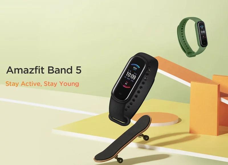 [香港行貨] Amazfit Band 5 全功能健身健康手環【3色】