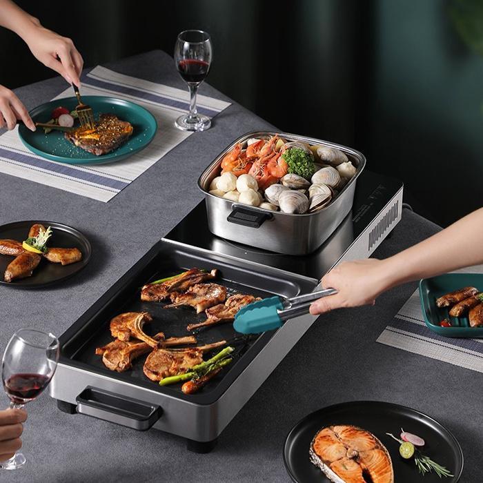 Fastee 法詩堤 多功能電烤盤 FST-77 - BBQ 燒烤架 韓式烤爐 鐵板燒 烤爐