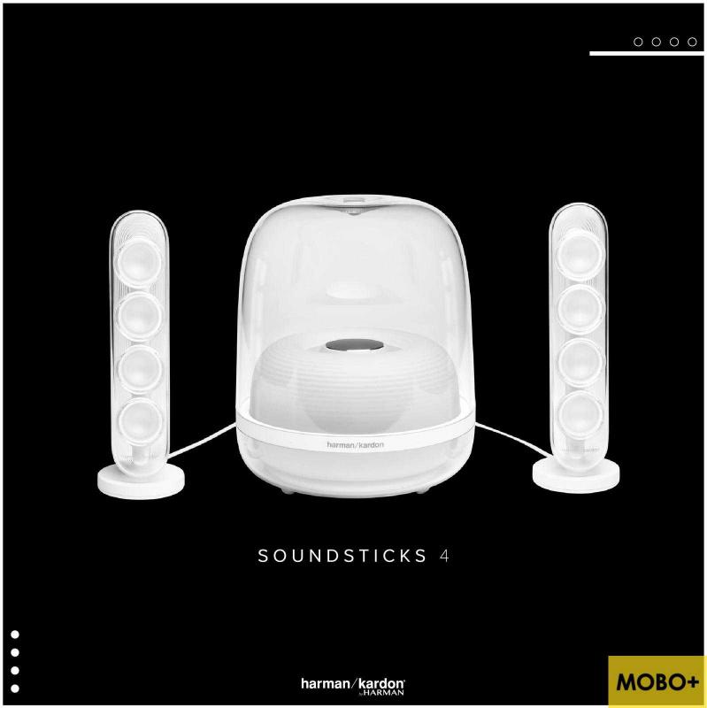 [香港行貨] Harman Kardon SoundSticks 4 家用藍牙喇叭 [白/黑色]