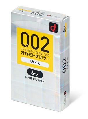 岡本 薄度均一 0.02 大碼 (日本版) 58mm 6 片裝 PU 安全套
