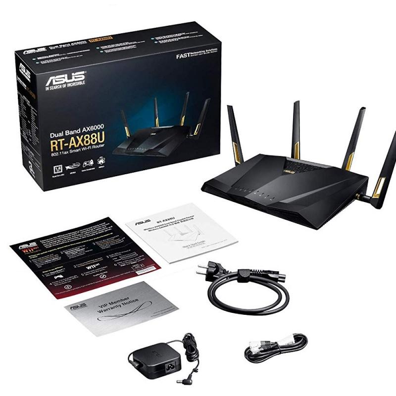 ASUS AX6000 雙頻 WiFi 6 (802.11ax) 電競無線路由器 RT-AX88U
