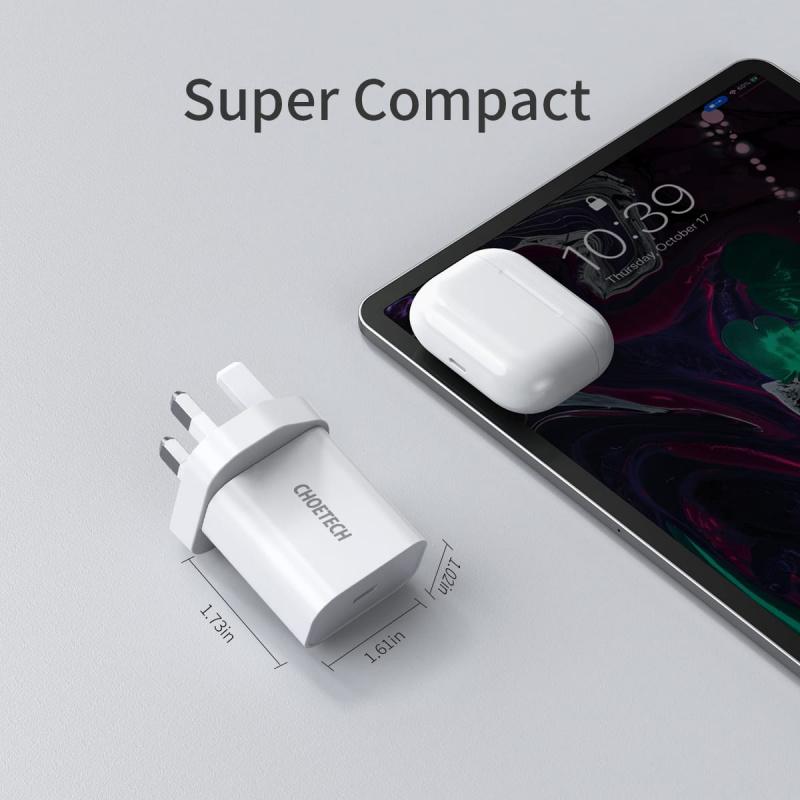Choetech20W USB-C 快速充電器 [黑色]