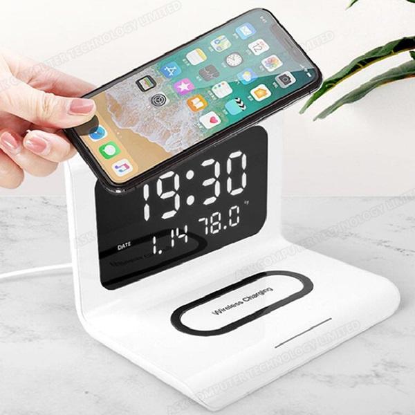 韓國B&C智能折疊三合一無線充電器 多功能10W無線快充帶鬧鐘